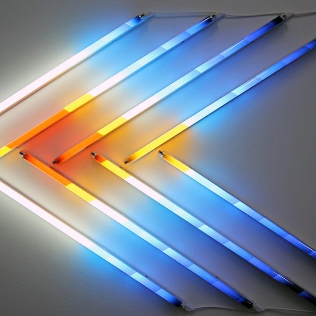 Fluorescent Neon Light Space Art