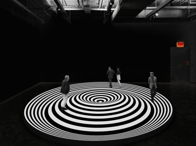 op art illusion art museum circle exhibition